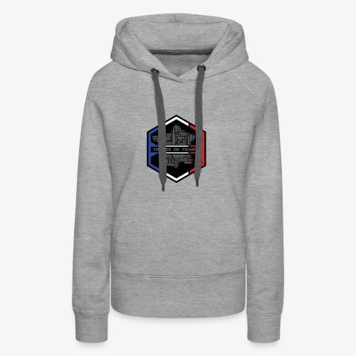tireursdefrance - Sweat-shirt à capuche Premium pour femmes