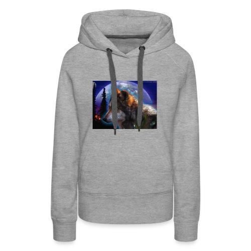 magnifique loup - Sweat-shirt à capuche Premium pour femmes