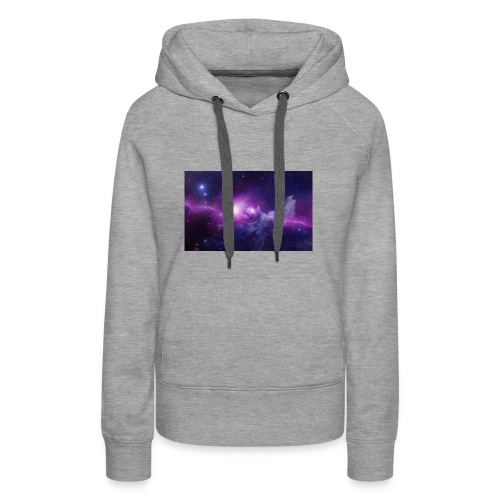 tshirt galaxy - Sweat-shirt à capuche Premium pour femmes
