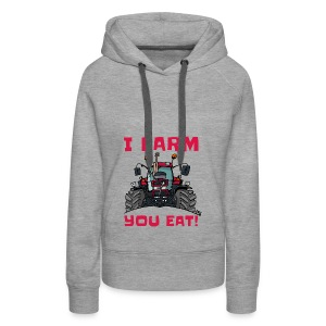 I farm you eat case - Vrouwen Premium hoodie