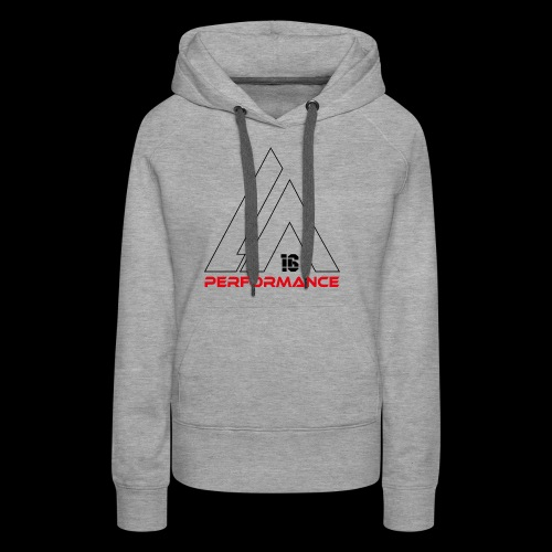LA Performamce black/red - Frauen Premium Hoodie