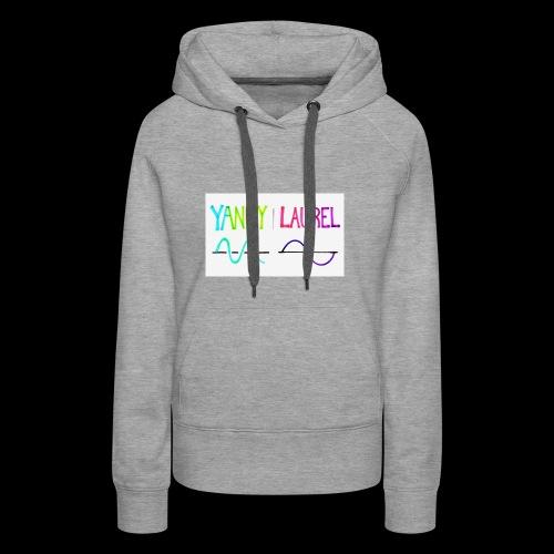 yanny laurel science - Women's Premium Hoodie