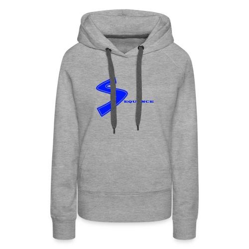 SEQUENCE BLUE - Frauen Premium Hoodie