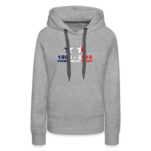 France - Champions du monde - 1998-2018 - Sweat-shirt à capuche Premium pour femmes