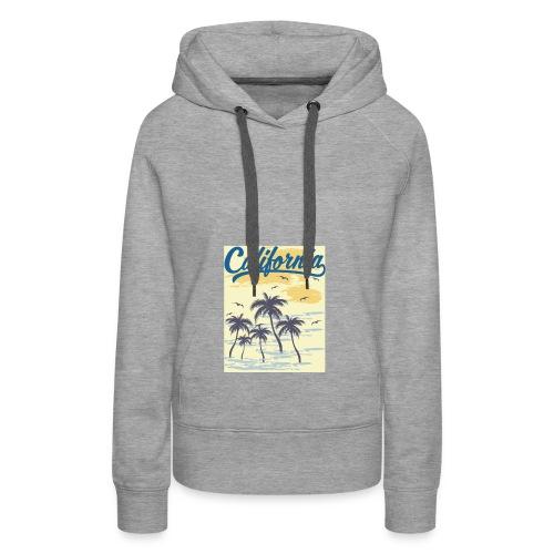 California Transparent - Sweat-shirt à capuche Premium pour femmes