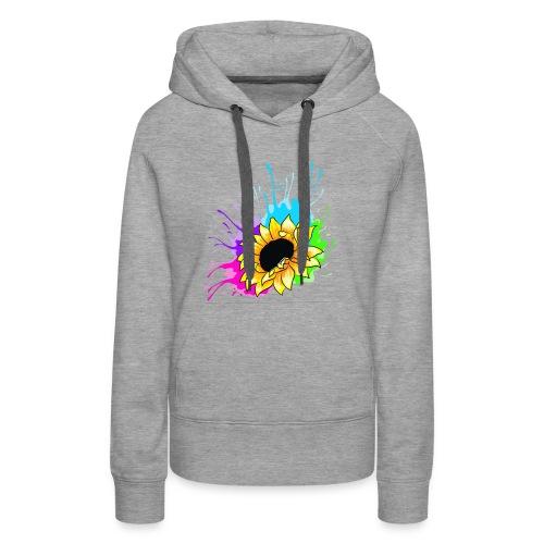 Sonnenblume Splash - Frauen Premium Hoodie