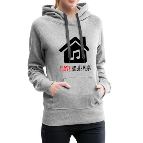 House Music Haus Party Shirt - Frauen Premium Hoodie