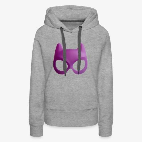 Bat Mask - Bluza damska Premium z kapturem