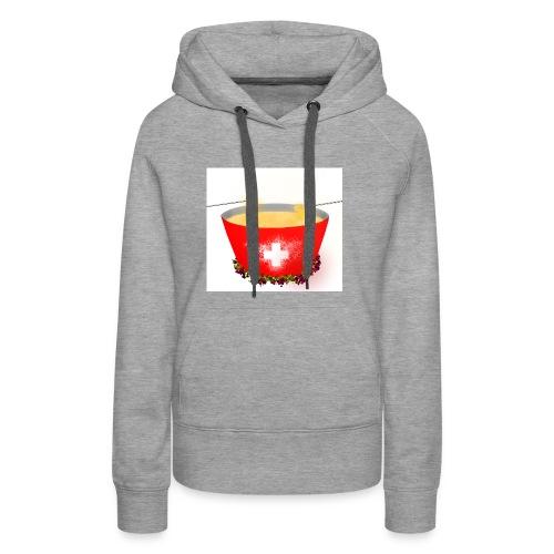 Einzigartiges Schweizer Fondue T-Shirt - Frauen Premium Hoodie
