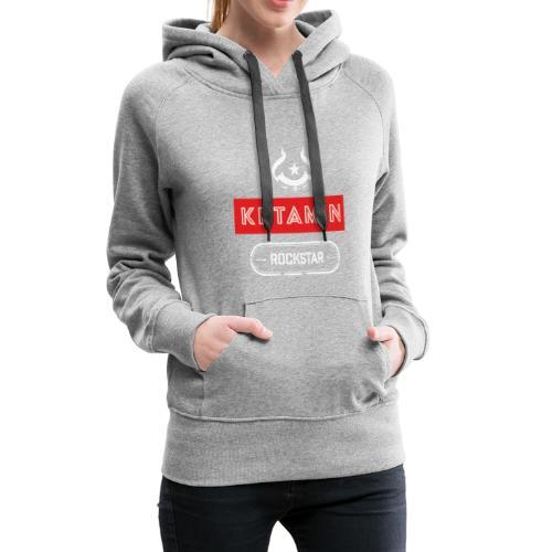 KETAMIN Rock Star - Weiß/Rot - Modern - Frauen Premium Hoodie