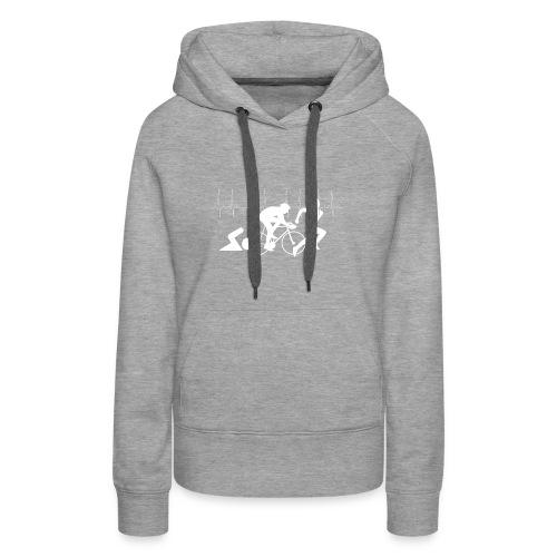 Ich liebe Triathlon Herzschlag T-Shirt - Frauen Premium Hoodie