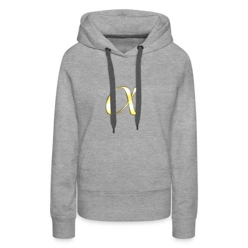 Alpha in Gold - Frauen Premium Hoodie