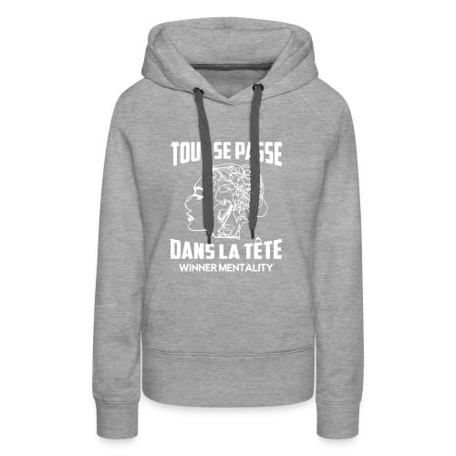 T-shirt motivation - Sweat-shirt à capuche Premium pour femmes