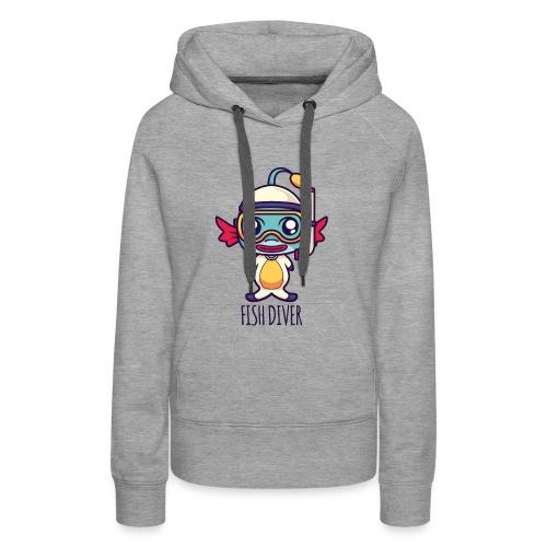 Fish Diver - Frauen Premium Hoodie