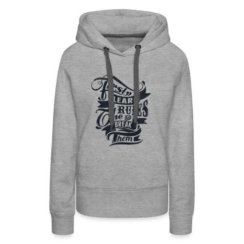 first lirn tchirt - Sweat-shirt à capuche Premium pour femmes