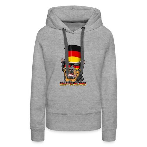 Cooler Deutschland Rottweiler mit Hut und Brille - Frauen Premium Hoodie