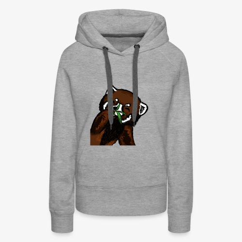 Cute red panda with Bamboo Wildlife T-Shirt - Women's Premium Hoodie