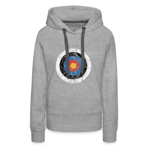 T-Shirt Bullseye Ziel Pfeil Bogen Archery Dart - Frauen Premium Hoodie