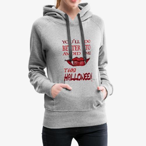 halloween women - Sweat-shirt à capuche Premium pour femmes