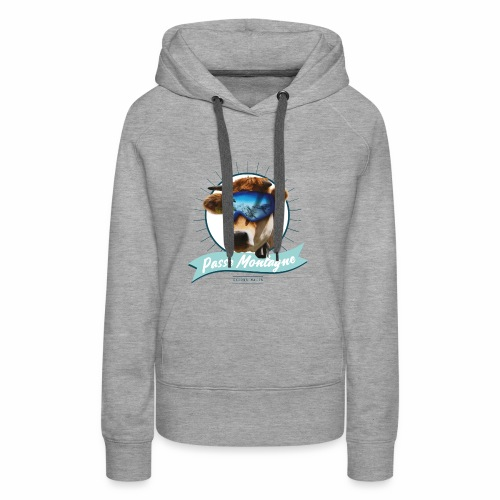 La vache masquée - Sweat-shirt à capuche Premium pour femmes