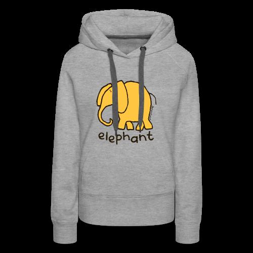 'elephant' - Bang on the door - Women's Premium Hoodie