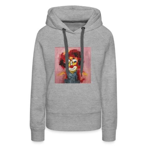 Clown - Felpa con cappuccio premium da donna
