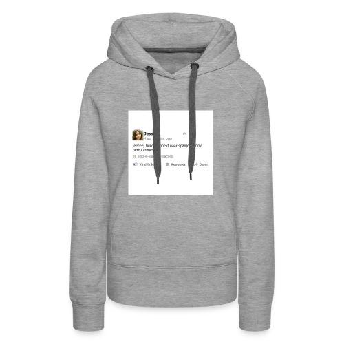 kussensloop_ticket_geboekt_naar_spanje - Vrouwen Premium hoodie