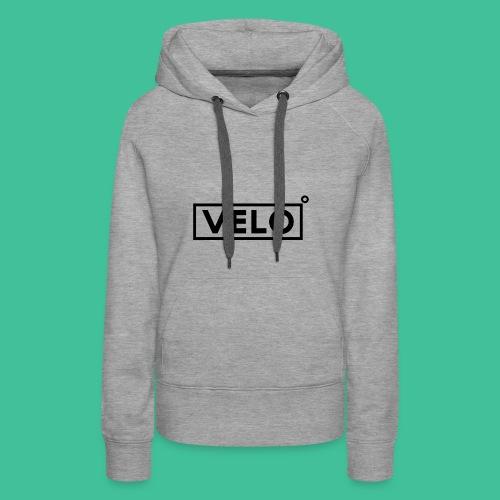 Velo Icon Blk - Long Sleeve Baseball Shirt W/N Clr - Women's Premium Hoodie