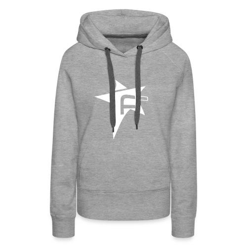 logoFR blanc - Sweat-shirt à capuche Premium pour femmes