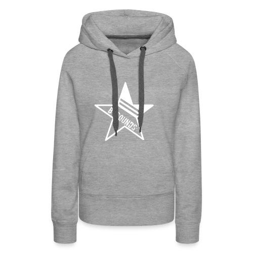B-SOUNDS LOGO WHITE - Vrouwen Premium hoodie