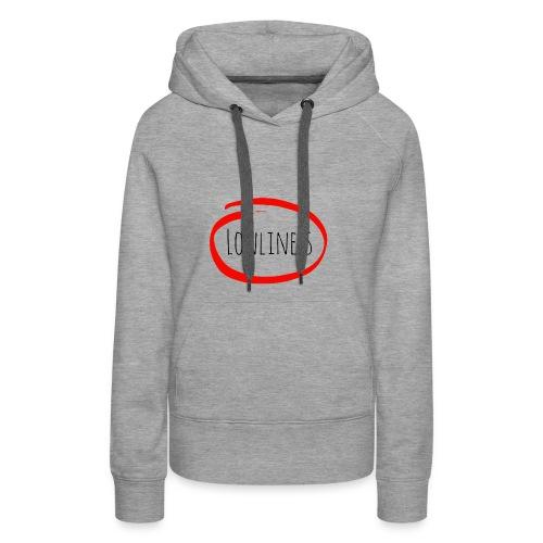 Lonliness-Białynapis - Bluza damska Premium z kapturem