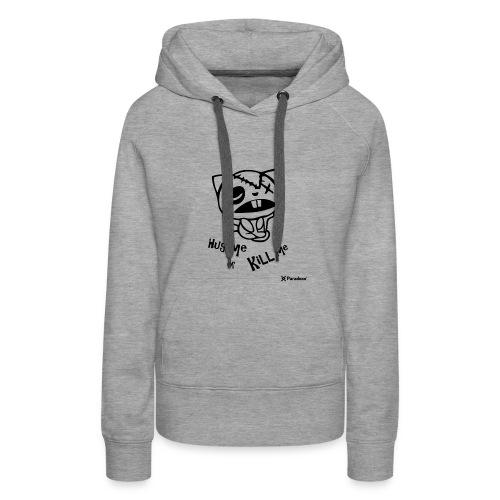 Happy tree friends Hug me or kill me - Dark cat' - Sweat-shirt à capuche Premium pour femmes