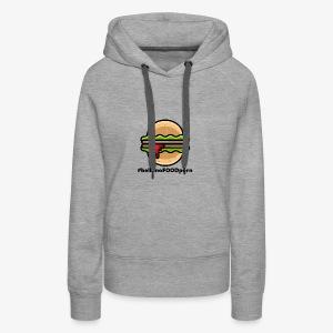 belluno FOOD burger - Felpa con cappuccio premium da donna