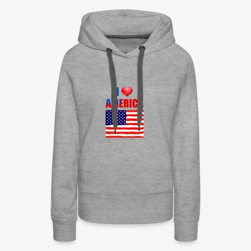 I LOVE AMERICA - Frauen Premium Hoodie