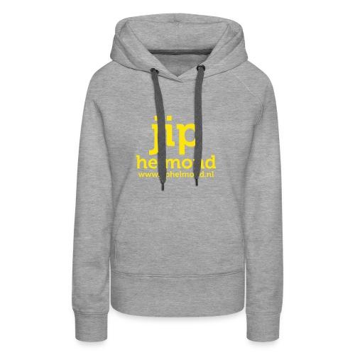 Jip helmond met webadres - Vrouwen Premium hoodie