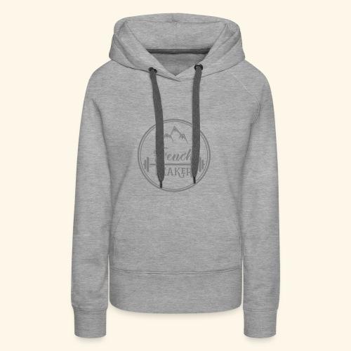 Gris50 transparent sans texte - Sweat-shirt à capuche Premium pour femmes