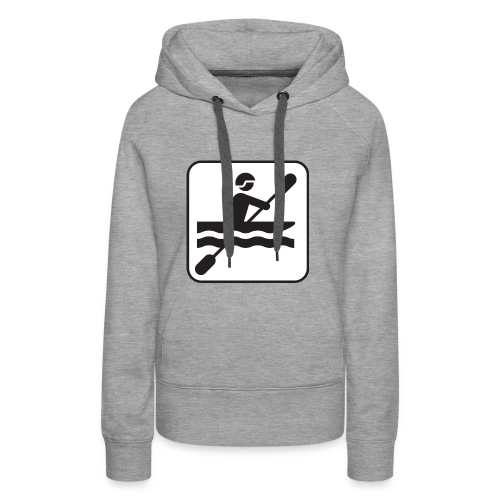 Icono piraguista - Sudadera con capucha premium para mujer