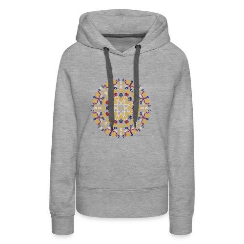 izia flower pattern - Frauen Premium Hoodie