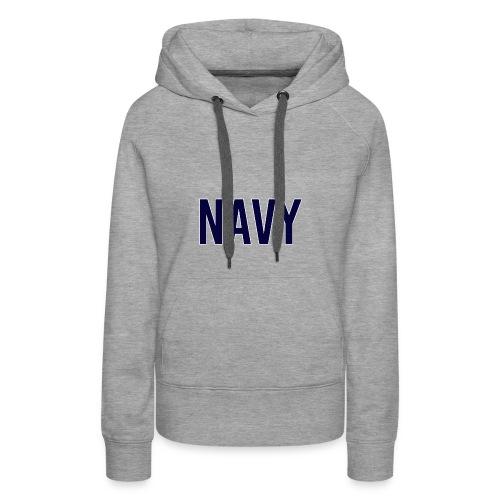 NAVY - Navy Blue - Women's Premium Hoodie