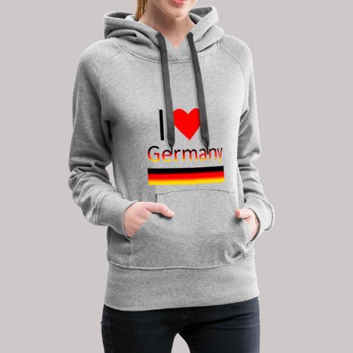 I love Germany - Ich liebe Deutschland - Frauen Premium Hoodie