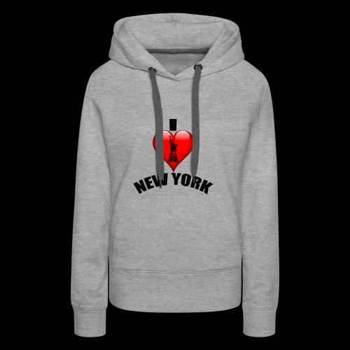 I love New York mit Herz - Frauen Premium Hoodie