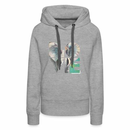 Elefant der Liebe - Frauen Premium Hoodie