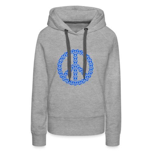 Peace Zeichen in blau - Frauen Premium Hoodie