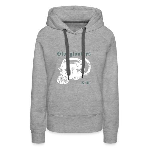 glouglouters - Sweat-shirt à capuche Premium pour femmes