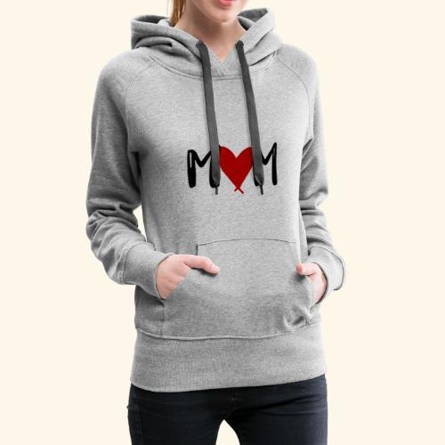 M♥M - Mom mit Herzen - Frauen Premium Hoodie