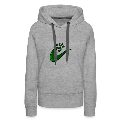 grüne Spirale - Frauen Premium Hoodie