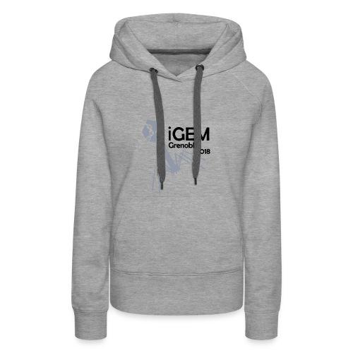 Logo iGEM - Sweat-shirt à capuche Premium pour femmes