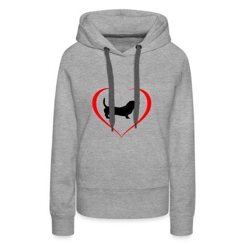 Hunde Liebe Dackel - Frauen Premium Hoodie