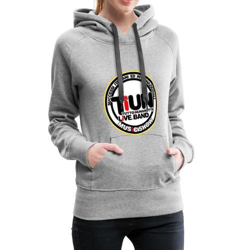 Logo 2018 - Felpa con cappuccio premium da donna