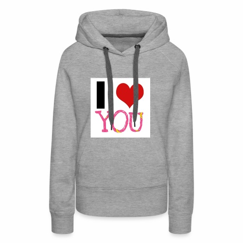 I LOVE YOU - Frauen Premium Hoodie